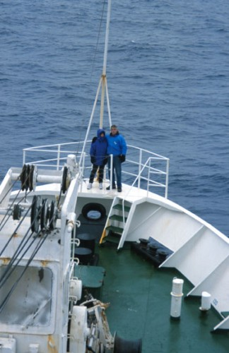 Starting across the Drake Passage
