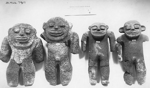 Stone figures left behind on Nihoa. Credit: Bishop Museum,